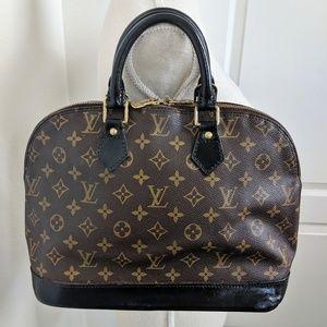 Authentic Louis Vuitton Alma PM Noir VI 0916